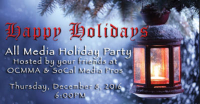 All Media Holiday Party – Dec. 8th